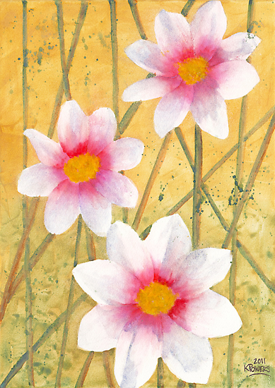 Three White Flowers by Ken Powers