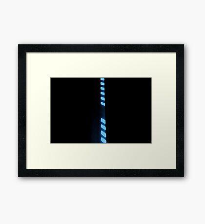 Line Up - Blue Framed Print