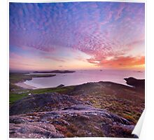 Sunset over Whitesands Bay and St David's Head, Pembrokeshire. Poster