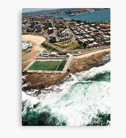 Newcastle Aerial View Canvas Print