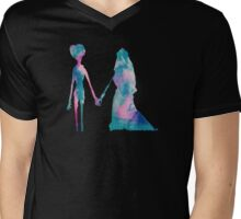 Watercolor Corpse Bride (black) Mens V-Neck T-Shirt