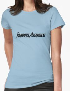 Fanboys Assemble! (Black Text) Womens Fitted T-Shirt