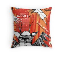 reaching for raven 8 Throw Pillow