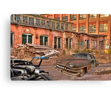 two classics at an old furniture store Canvas Print