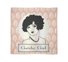 1920s Gatsby Flapper Girl Portrait (pink and pearl) Scarf
