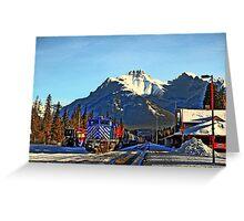 Rocky transportation in Banff, Alberta Greeting Card