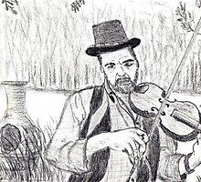 Kirsten's violin sketch by Samohsong