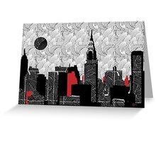 New York City Skyline Swing  Greeting Card