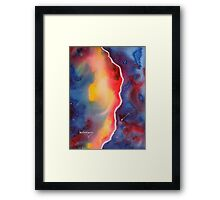 Galaxy Winds at the Edge......Watercolor Framed Print