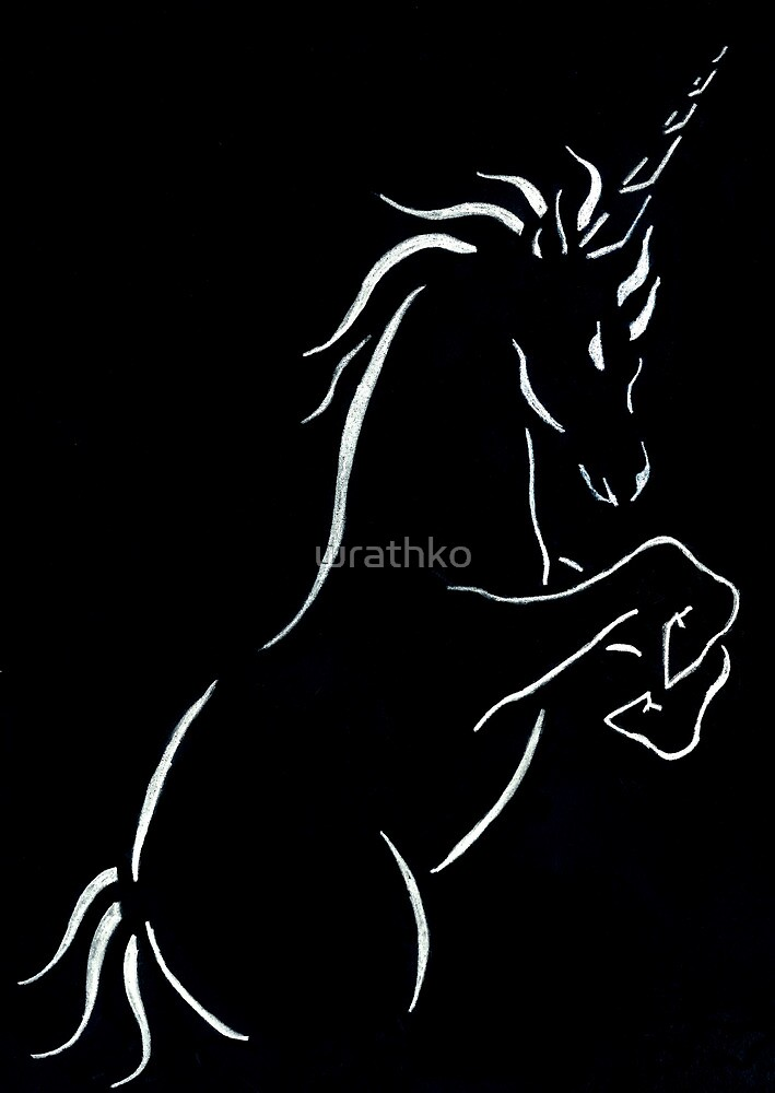 A Crisp Silhouette of a Unicorn  by wrathko