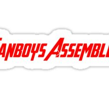 Fanboys Assemble! (Red Text) Sticker