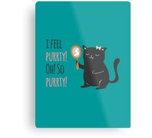 Catty Thoughts! Metal Print