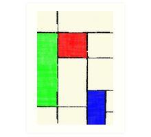 Mondrian 2000 Art Print