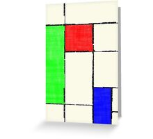 Mondrian 2000 Greeting Card