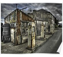 Disused Petrol Garage - Snowdonia Poster