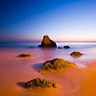 Praia dos Trs Irmos, Algarve, Portugal. by Justin Foulkes