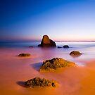 Praia dos Três Irmãos, Algarve, Portugal. by Justin Foulkes