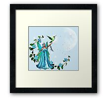 Blue Princess Framed Print