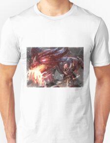 Braum League of Legends Champion Digital Mixed Media Art. T-Shirt
