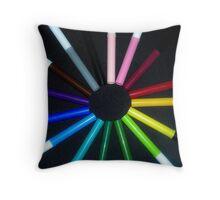 The Rainbow Connection Throw Pillow