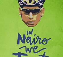 In Nairo We Trust : Illustration on Movistar Green by finnllow