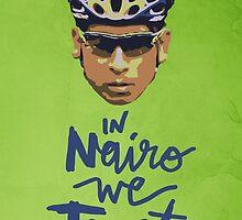 In Nairo We Trust : Illustration on Movistar Green by finnllow