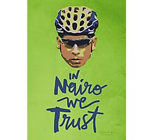 In Nairo We Trust : Illustration on Movistar Green Photographic Print