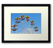 Bright Colourful Ferris Wheel Framed Print