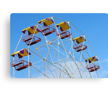 Bright Colourful Ferris Wheel Canvas Print