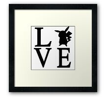 Love Pikachu Pokemon Framed Print