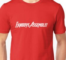 Fanboys Assemble! (White Text) Unisex T-Shirt