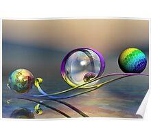 Rainbow Globes (111 Views) Poster