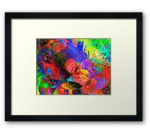Psychedelic Balloons Framed Print