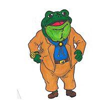 Frog Lawyer Photographic Print