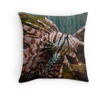 Lionfish Profile Throw Pillow