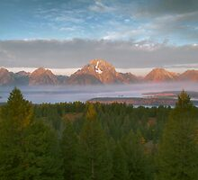 Dawn Over The Teton Range by Stephen Vecchiotti