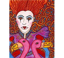 Red Queen Portrait Photographic Print