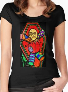 VooDoo Doll tattoo art Women's Fitted Scoop T-Shirt