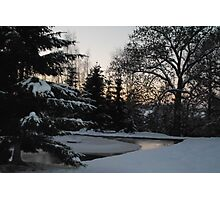 Freezing pond Photographic Print