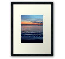 Sea-Sunset Framed Print