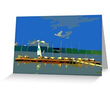 The Sailing Lesson Greeting Card