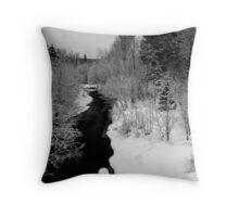 Winter black and white Throw Pillow