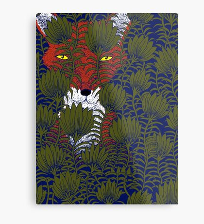 Invisible Fox Metal Print