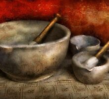 Pharmacist - Pestle and son  by Mike  Savad