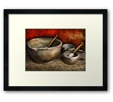 Pharmacist - Pestle and son  Framed Print