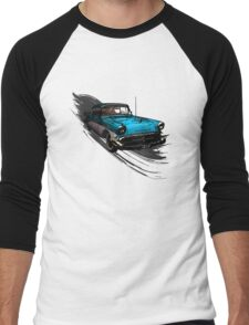 Car Retro Vintage Design Men's Baseball ¾ T-Shirt