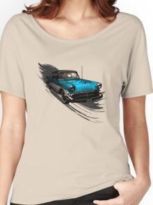 Car Retro Vintage Design Women's Relaxed Fit T-Shirt