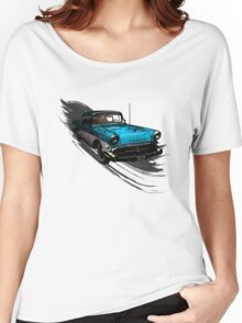 Car Retro Vintage Design Women's Relaxed Fit T-Shirt