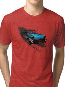 Car Retro Vintage Design Tri-blend T-Shirt
