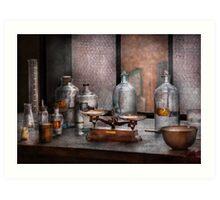 Chemist - The art of measurement  Art Print